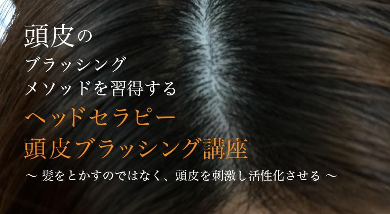 頭皮のブラッシングメソッドを習得するヘッドセラピー頭皮ブラッシング講座