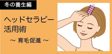 冬の養生編「ヘッドセラピー活用術」育毛促進